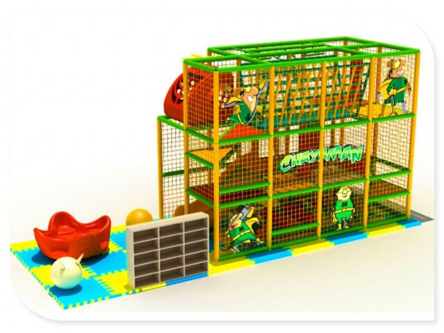 Three Story Kids Indoor Playground For Restaurant