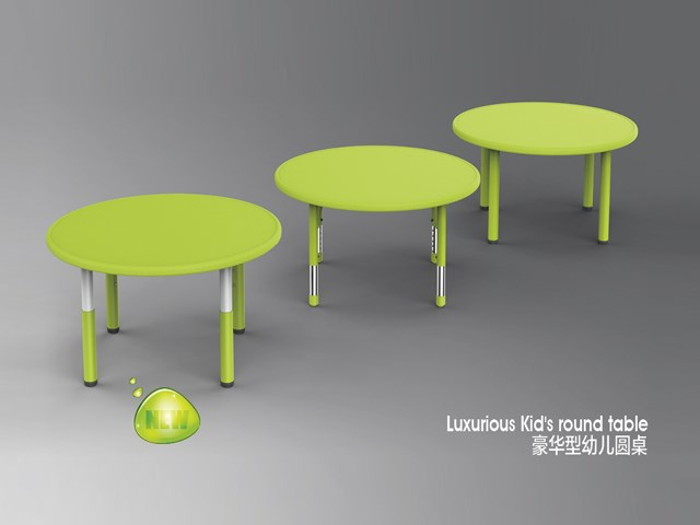 Wonderful Table Leg Adjusted Round Table For Kids