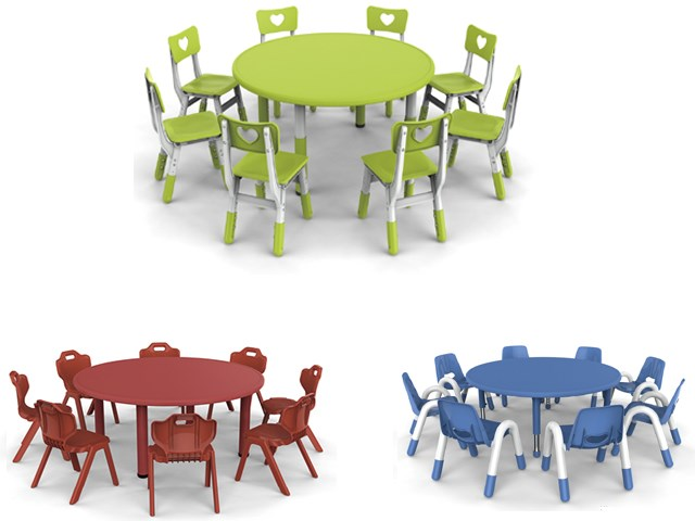 ... Table Leg Adjusted Round Table For Kids