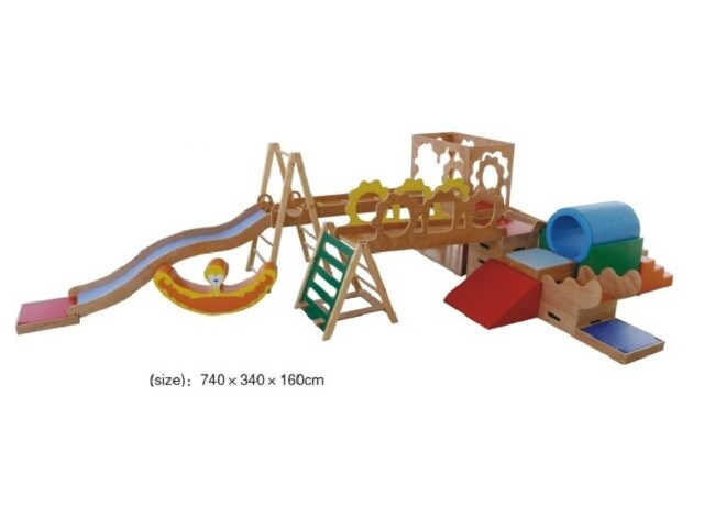 Hot Indoor Wooden Soft Play Structure For Kids Indoor Play Center