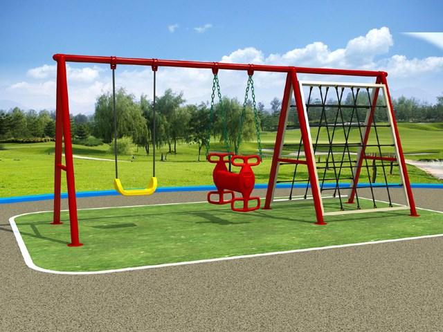 2 seats metal swing rope climbing frame for children kids - Metal Swing Frame