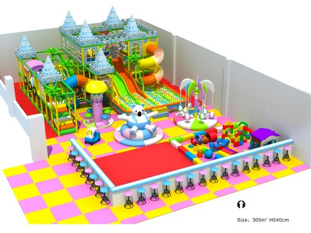 Kids Castle Themed Indoor Fun Play Structure
