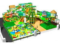 Vertical High Indoor Soft Play Systems & Sports Court for Kids Indoor Playpark
